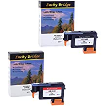 2PK Lucky puente HP940cabezal de impresión, C4900A, C4901A remanufacturados con Chip nunca uso. Compatible para HP OfficeJet (1por, 1MC)