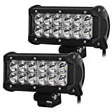 #10: AutoSun 12 LED Fog Light / Work Light Bar Spot Beam Off Road Driving Lamp 2 Pcs 36W CREE Set of 2