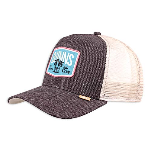 Djinns Trucker Cap Rough Canvas Dark Brown, Size:ONE Size