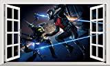 Chicbanners Ant-Man Ant Man 3D Wall Crack Smash V104Wandtattoo Selbstklebende Poster Wall Art Größe 1000mm Breit x 600mm Tief (groß)