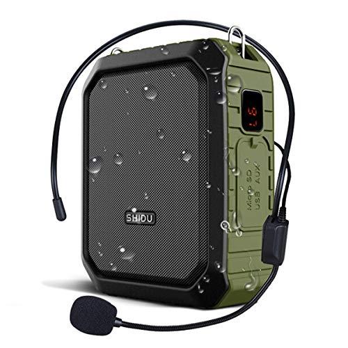 Winbridge amplificatore di voce con via cavo microfono auricolare megafono clip amp altoparlante bluetooth portatile power bank