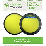 Eureka DCF-25 Filter; Fits SuctionSeal (AS1100 Series), Endeavor NLS (5400 Series), Nimble (EL8600 Series); Compare to Part # DCF25, 67600, 82982-2; Designed & Engineered by Crucial Vacuum