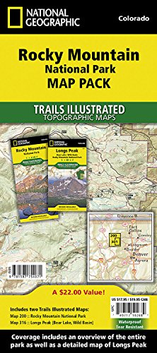 Rocky Mountain National Park, Map Pack Bundle: Trails Illustrated National Parks (National Geographic Trails Illustrated) (Co Rocky Mountain National Park)