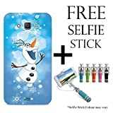 Hamee Disney Frozen Princess Licensed Hard Back Case Cover For iPhone Samsung Galaxy On7 / On 7 Pro Cover with Free Selfie Stick Monopod – Combo 31