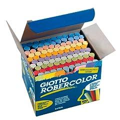 Idea Regalo - Giotto Gessi per lavagna, colori vari, scatola 100 pezzi