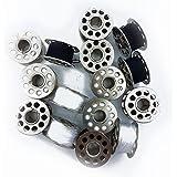 15PC Standard machine à coudre en métal bobines/bobines de fils de couleurs Noir et blanc Home par Accessoires grenier