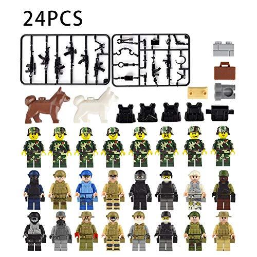 24 Stück Bausteine Spielzeug Bunte Spielzeug Spielen Spiel - Cartoon Mann Figur Kindergeld Bausteine Bauklötze Spielzeug