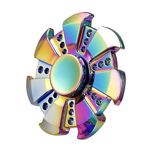 Preisvergleich Produktbild cooshional Fidget Spinner Bunte Regenbogen Metall Hand Spinner EDC Fingerspitze Gyro Spielzeug