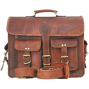 b2cf792c83 Borsa messenger, cartella per laptop e libri in vera pelle per uomini e  donne, in stile vintage, fatta a mano, robusta e anticata