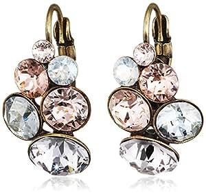 Konplott petit glamour-boucles d'oreilles pendantes femme-laiton-verre - 5450543248066 multicolore