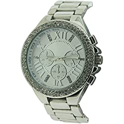 BDV Women's Quartz Watch with Silver Dial Analogue Display and Silver Bracelet BDV31/C