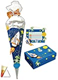 Unbekannt 3 tlg. Set: BASTELSET Schultüte - Weltraum Rakete 85 cm + Schulbox + Stundenplan - Zuckertüte Roth - Astronaut Weltall Planeten zum Basteln Schulanfang