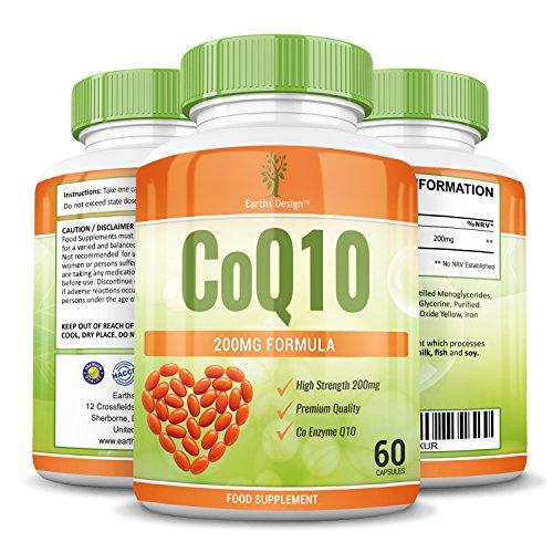 Coenzym Q10 200 mg – CoQ10-Nahrungsergänzungsmittel – Hochdosiertes CoQ10 – 60 Kapseln (30 Tage Vorrat) von Earths Design - 5