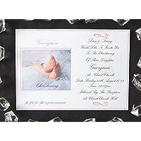 25, 50, 75 o 100 x personalizzati Twins, ragazza, ragazzo o ragazza e / o ragazzi battesimo / Battesimo Inviti Design (D), con o senza fotografia & Free Buste