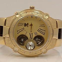 Aqua Master Mens Automatic Diamond Watch 0.20ctw W2124