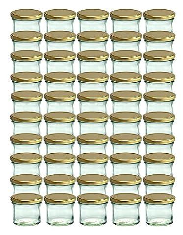 Cap+Cro To 66 Lot de 50 bocaux en verre pour