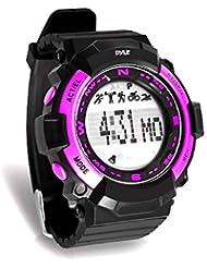 Pyle Sports psptr19–Fitness Tracker Armbanduhr mit Countdown Timer und Chronograph Stoppuhr–Schrittzähler zählt Schritte und Kalorien–Erbaut im Schlaf Monitoring Funktion