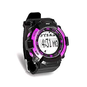 Pyle Sports PSPTR19–fitness tracker orologio da polso con conto alla rovescia timer e cronometro cronografo–pedometro conta passi e calorie–costruito in funzione di monitoraggio del sonno, Pink
