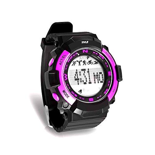 Pyle Sports psptr19-Fitness Tracker Armbanduhr mit Countdown Timer und Chronograph Stoppuhr-Schrittzähler zählt Schritte und Kalorien-Erbaut im Schlaf Monitoring Funktion, Rose Casio-audio