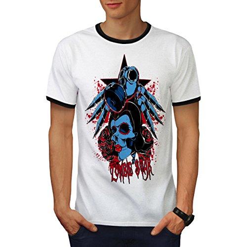 Zombie Alptraum Herren M Ringer T-shirt   Wellcoda (Zucker Schädel-masken)