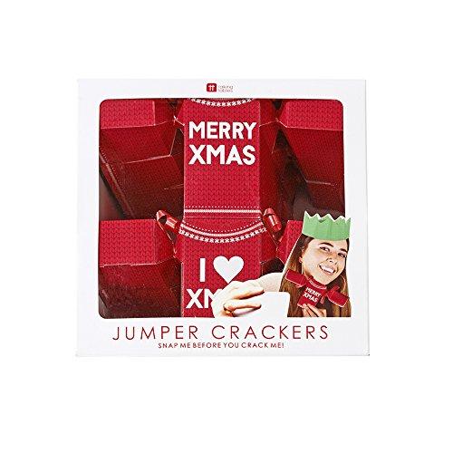 Talking Tables Entretenimiento Navideño Cracker de Navidad Suéter para Fiestas de Navidad,...