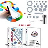 MC CHENMEI 2 IN 1 Spirograph Deluxe Kit Include 2 Types Classic Spiral Design Drawing Set For Kids