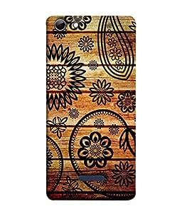 PrintVisa Designer Back Case Cover for Micromax Canvas Selfie 3 Q348 (The Floral Design On Wood )