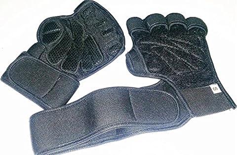 haltérophilie Gants en cuir, avec support de poignet pour entraînement, crossfit, fitness et Cross Training–équipement d'haltérophilie pour homme et femme–Utilisez 4Fitpro Crochets, Wrap Pad et sangles pour éviter les blessures