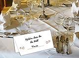 50 Stück Tischkarten Hochzeit - Platzkarten für Geburtstag, Taufe, Kommunion und Konfirmation mit