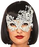 Leg Avenue 3747 - Fantasy Venezianischen Applikation Augenmaske - Einheitsgröße, weiß