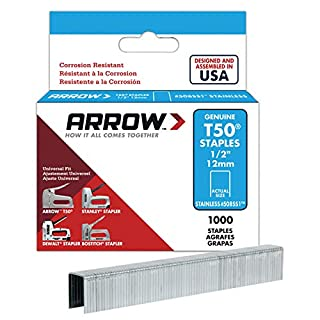 ARROW T50 Staples Box 1000 - Stainless Steel 508ss 12mm 1/2in