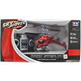 Sky Rover Dark Stealth 3.5 Channel Radio Controlled Helicopter - Red, YW857104