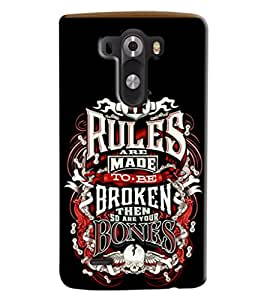 Omnam If Rules Are Made To Be Broken Printed Designer Back Cover Case For LG G3