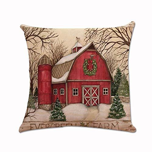 (TEBAISE 45 x 45cm Kissenbezug Weihnachten Drucken Färben Sofa Bett Home Decor Kissen Cover Karneval Fasching Fasnacht Weihnachten Zierkissenschutzbezüge)