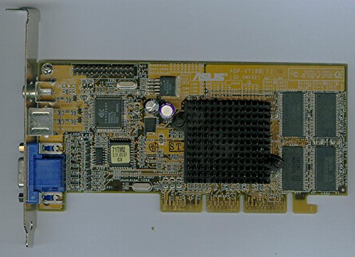 ASUS AG-V7100(T) AG V7100 T 32MB SD Ram Grafikkarte AGP TV-Out Composite (812)