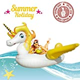 Best Floaties For Kids - Unicorn Pool Float,Giant Party Tube Inflatable Raft,Outdoor Swimming Review