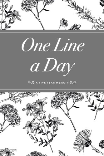 one-line-a-day-journal-a-five-year-memoir-6x9-lined-journal-bw-floral-journals-notebooks-and-diaries