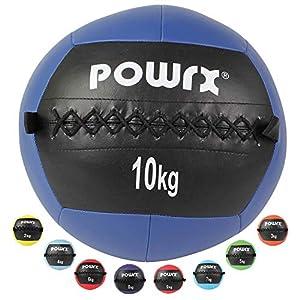 POWRX Wall-Ball Medizinball Gewichtsball Gymnastikball Deluxe 2-10 kg | versch. Farben