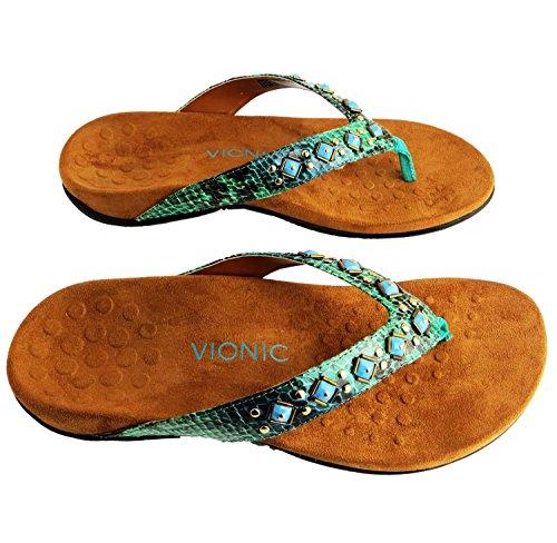 Vionic Womens 340 Floriana Synthetic Sandals Vert - vert