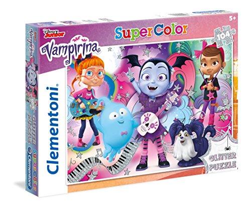 Clementoni–Glitter Vampirina–104Piezas Puzzle,...