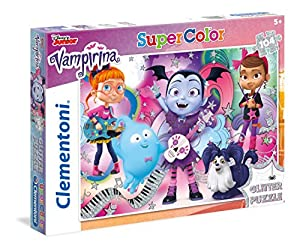 Clementoni-Glitter Vampirina-104Piezas Puzzle, 27088, Multicolour