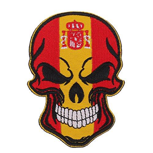 Homyl Parche Bordado Bandera Calavera Emblema Impreso