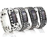 Fit-Power Ersatz-Armband mit Schnalle für Garmin Vivofit 2 (ohne Tracker), Pack of 4E