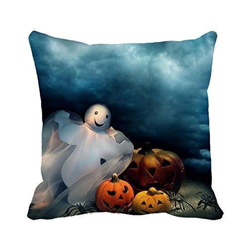 Warrantyll happy halloween zucche casa divano in cotone cuscino decorativo cuscino quadrato custodia, cotone, #color 1, 24*24