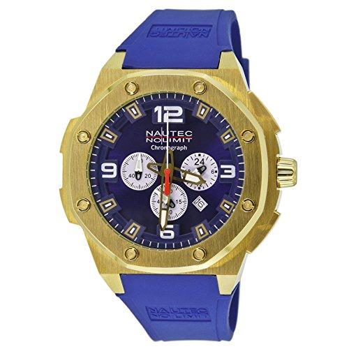 Nautec No Limit - SF QZ/RBGDGDBL - Montre Homme - Quartz Analogique - Bracelet Caoutchouc Bleu