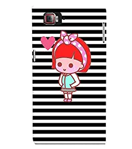 Fuson Premium Cute Doll Printed Hard Plastic Back Case Cover for Lenovo Vibe Z2 Pro K920