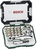 Bosch DIY 26tlg. Schrauberbit- und Ratschen-Set mit Farbcodierung