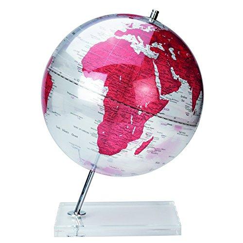 Globe terrestre - 30 cm - Plastique - Rouge