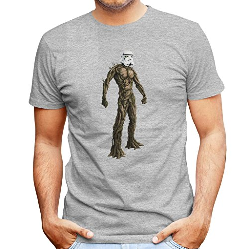 (Groot Guardians of The Galaxy Star Wars Stormtrooper Head Men's T-Shirt)