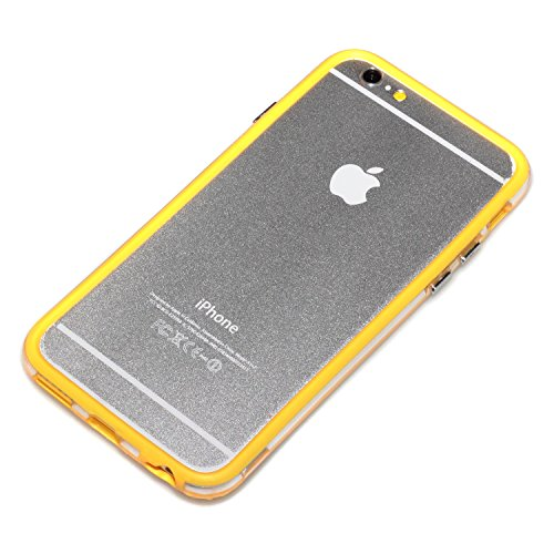 "deinPhone Apple iPhone 6 6S (4.7"") SILIKON CASE Hülle deinPhone Eule Bumper Gelb"